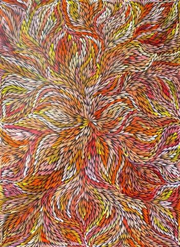 Bush Medicine Leaves By Jeannie Petyarre At Aboriginal Art Directory