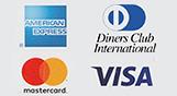 We accept Visa, Mastercard, American Express, JCB, Eftpos